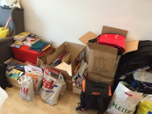 Gesammelte Spenden im Büro